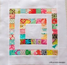 Series of Squares Scrapbuster Block