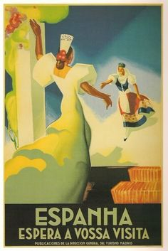 Spanish pre-civil war tourism poster by Joseph Morell Macías  #vintage #travel #poster #Spain