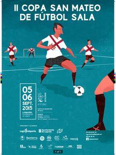 Cartel del II Torneo San Mateo de Fútbol Sala de Logroño