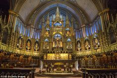 The Notre-Dame Basilica is in the historic district of Old Montreal, in Montreal, Quebec, Canada. The church is located at 110 Notre-Dame Street West, at the corner of Saint Sulpice Street. Notre Dame Montreal, Old Montreal, Montreal Quebec, Montreal Travel, Notre Dame Basilica, Cultural Capital, Art Mural, Place Of Worship, Culture Travel