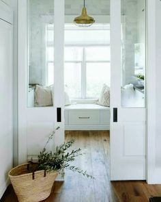 Baby bath seat master bedrooms Ideas for 2019 French Pocket Doors, Glass Pocket Doors, Glass French Doors, Baby Bath Seat, Bath Seats, Living Room White, White Rooms, Fall Baby Announcement, Tiny Powder Rooms