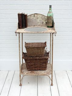 Vintage Iron Washstand from Zinnia Cottage