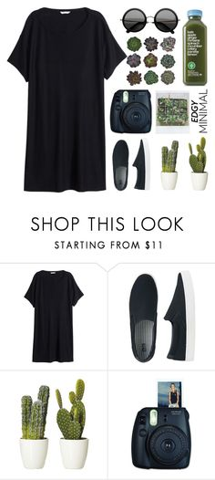 """""""Into the Garden"""" by franchesca-29 ❤ liked on Polyvore featuring moda, H&M, Uniqlo i Polaroid"""