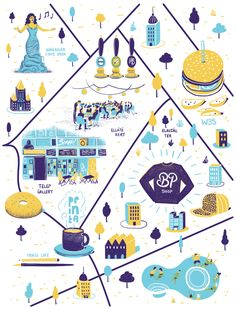 Map of Budapest for Computer Arts magazine issue 222. Illustrated by Daniel Gray.