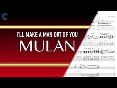 Oboe - I'll Make a Man Out of You - Mulan - Sheet Music, Chords, & Vocals Clarinet Sheet Music, Music Chords, Make A Man, How To Make, Free Sheet Music, Oboe, Songs, Learning, Youtube