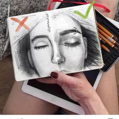 Painting cute art water colors ideas for 2019 Drawing Sketches, Art Drawings, Drawing Tips, Pencil Drawings, Drawing Faces, Anatomy Drawing, Art Tips, Art Sketchbook, Drawing Techniques