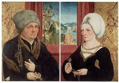 Portrait of a married couple by Wolfgang Beurer,c. 1480-1500