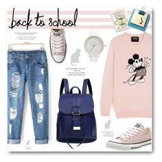 """""""The First Day of School!"""" by befunky ❤ liked on Polyvore featuring Ainvyi, Converse, Markus Lupfer, Nixon, Rifle Paper Co, Kobelli, BackToSchool and polyvorecommunity"""