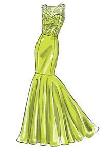 Abschlussball, Abend & Braut – Keep up with the times. Fashion Drawing Dresses, Fashion Dresses, Drawing Fashion, Mccalls Sewing Patterns, Vintage Sewing Patterns, Vestidos Vintage, Vintage Dresses, Hi Low Skirts, Dress Drawing