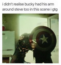 BUCKY YOU HAVE REMEMBERED WHO YOU ARE YOU ARE STEVE'S BFF I'M CRYING