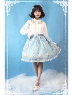 Neverland Lolita -Crystal Palace- Organza Tailored Lolita Skirt