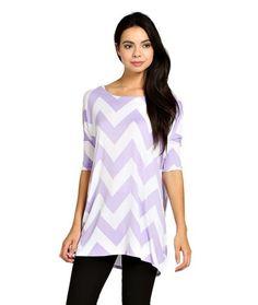 ColorMC Women's Chevron Print Round Neck 1/2 Sleev...($16.99)