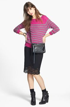 Stripe Cashmere Sweater (Online Only)