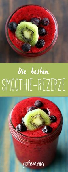 A Triple berry kiwi smoothie that's packed with antioxidants and vitamin C. Perfect for the winter months! Triple Berry Kiwi Smoothie - This triple berry smoothie is full of antioxidants and vitamin c to help keep you healthy this winter! Yummy Drinks, Healthy Drinks, Healthy Eating, Healthy Recipes, Easy Recipes, Snacks Recipes, Kiwi Recipes, Clean Eating, Healthy Milk