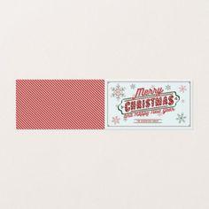 Christmas Marquee Folded Card - Xmas ChristmasEve Christmas Eve Christmas merry xmas family kids gifts holidays Santa