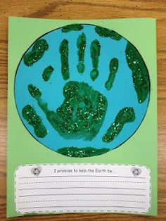 Earth Day craft and writing - Great ideas on this blog!  (Free.)