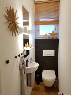 After I was just a silent reader for a long time, here is another photo . - gäste wc - Home Decor Small Toilet Decor, Small Downstairs Toilet, Small Toilet Room, Guest Toilet, Bedroom Decor For Women, Diy Bedroom Decor, Home Decor, Bathroom Design Small, Bathroom Interior Design