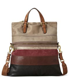 (Limited Supply) Click Image Above: Fossil Explorer Stripe Patchwork Tote Neutral Multi - Fossil Leather Handbags Fossil Handbags, Fossil Bags, Tote Handbags, Purses And Handbags, Leather Handbags, Leather Bag, Fossil Purses, Ladies Handbags, Fashion Handbags