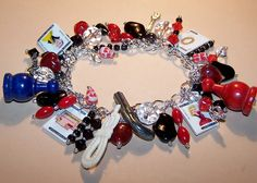 VINTAGE CLUE GAME Mystery Charm Bracelet by ptierneydesigns