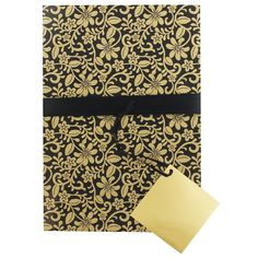 Luxury Gold and Black Gift Wrap   Stationery - New In! at The Works
