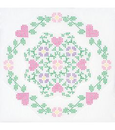 Jack Dempsey Stamped White Quilt Blocks - 487661 for sale online Christmas Embroidery Patterns, Needlepoint Patterns, Quilt Patterns, Cross Stitch Heart, Cross Stitch Flowers, Cross Stitch Designs, Cross Stitch Patterns, Embroidered Quilts, Cross Stitch Collection