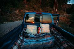 What a fun idea for camping on a warm summer night! If the bugs are bad, you could always put a mosquito net over the top.