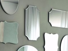 Wall-mounted rectangular mirror VITTORIA RT - Casamilano