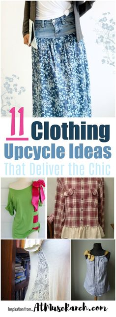 This clothing upcycle ideas are the BEST... oh and easy to do. If you need a wardrobe update and your budget is tight, these clothing upcycle ideas are your BFF. I've rounded up some of the best ideas for your inspiration. Wanna see?