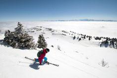 Ski alpin ou ski de descente à Lélex (© Montagnes du Jura - Benjamin Becker)