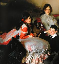 Essie, Ruby and Ferdinand Wertheimer, John Singer Sargent, 1902