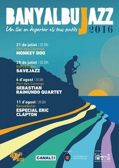 Del 21 de #julio al 11 de #agosto 2016 #Banyalbujazz #Mallorca ☺︎ Precioso #DiseñoDeCartel y ¡planazo! #Sunset #FreeJazz #aLaFresca recortado sobre el mar... y un chupito bien frío de #Malvasia de #Banyalbufar ¿Te lo vas a perder? El #verano ya está aquí para hacerte feliz ☺︎ #Mallorca #Livinginparadise #Mediterraneamente #Mediterraneament #Jazz #Música #Arte #Cultura https://www.facebook.com/masbonitoqueunsanluis/ https://twitter.com/Arantxa_Gallego masbonitoqueunsanluis.com