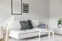 Sofa, Couch, Interior Photo, Vit, Furniture, Home Decor, Style, Swag, Settee