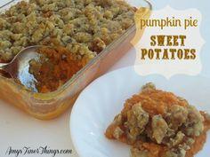 Pumpkin Pie Sweet Potatoes