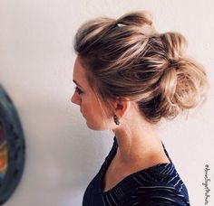 Messy, casual updo                                                                                                                                                                                 More