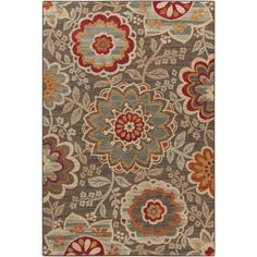 Agnes Olive (Green) 1 ft. 10 in. x 2 ft. 11 in. Indoor Area Rug