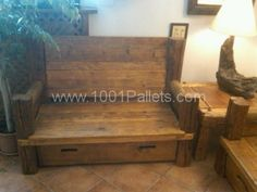 div 1 600x450 Divani 100/100 riciclaggio / Pallets & Wood sofa in pallet living room pallet furniture  with Sofa pallet Bench