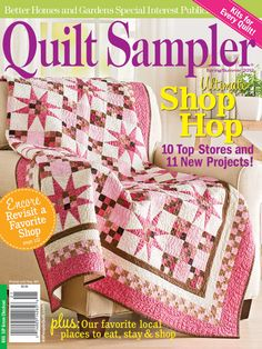 The Jinny Beyer Palette gets the cover of APQ Quilt Sampler Magazine Spring/Summer 2012. Shown here is Bubblegum Stars by Cotton & Chocolate Quilt Company.
