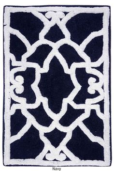 Handmade bath mat VERONA by The Rug Republic