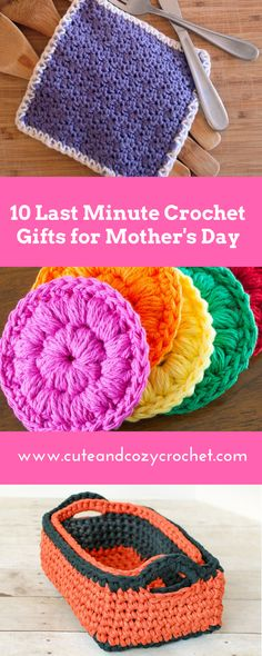 10 Last Minute Crochet Gifts for Mother's Day | Cute & Cozy Crochet | Free Crochet Patterns | Crochet Projects | Mom Crochet