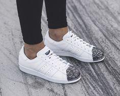 adidas Low-Top Glitter metal toe adidas Superstar white 5