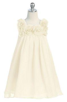 ivory flower girl dress-so cute! Although I don't think I'm having a flower girl.
