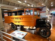 A 1927 Blue Bird, possibly the oldest surviving school bus in the U.S.