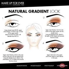 Natural Gradient Look from #MAKEUPFOREVER. #HolidayMakeup #PartyMakeup