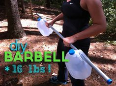 DIY kettle bell- fill a plastic bag with sand, wrap it in ...