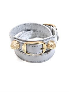 Punctuated with Balenciaga's signature studs this leather triple-wrap bracelet is sure to become a jewellery staple. Wear it to add a tough-luxe edge to your look.