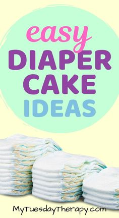 Adorable diaper cake ideas anyone can do. Easy how to make a diaper cake instructions. Be inspired by the unique diaper cake ideas for girls and boys. Gender neutral diaper cake ideas that will blow you away. Easy Baby Shower Games, Cheap Baby Shower, Simple Baby Shower, Diaper Cake Centerpieces, Baby Shower Centerpieces, Baby Shower Decorations, Baby Decor, Unique Diaper Cakes, Diy Diaper Cake