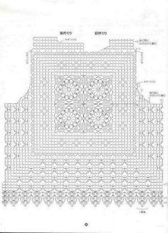 41 New ideas for crochet shawl chart free pattern ganchillo Crochet Jacket, Crochet Blouse, Crochet Poncho, Crochet Top, Crochet Pillow Pattern, Granny Square Crochet Pattern, Crochet Stitches, Crochet Baby Hats, Crochet Clothes