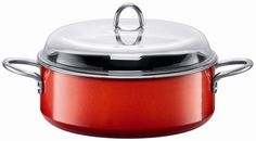 Silit  Passion  6-1/2-Quart Low Stewpot with Lid, Energy Red