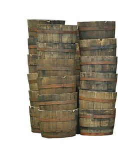 half wiskey barrels great for so many projects!