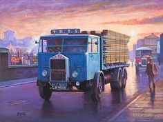 forward control Albion flatbed truck with a scaffold board load. But where is the drivers mate? Vintage Trucks, Old Trucks, Road Transport, Public Transport, Transport Pictures, Old Lorries, Nostalgic Art, Truck Art, Car Posters